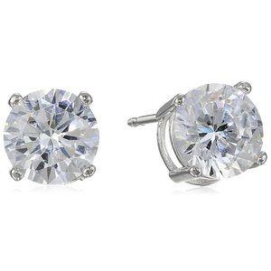 Plated Sterling Silver Stud Earrings